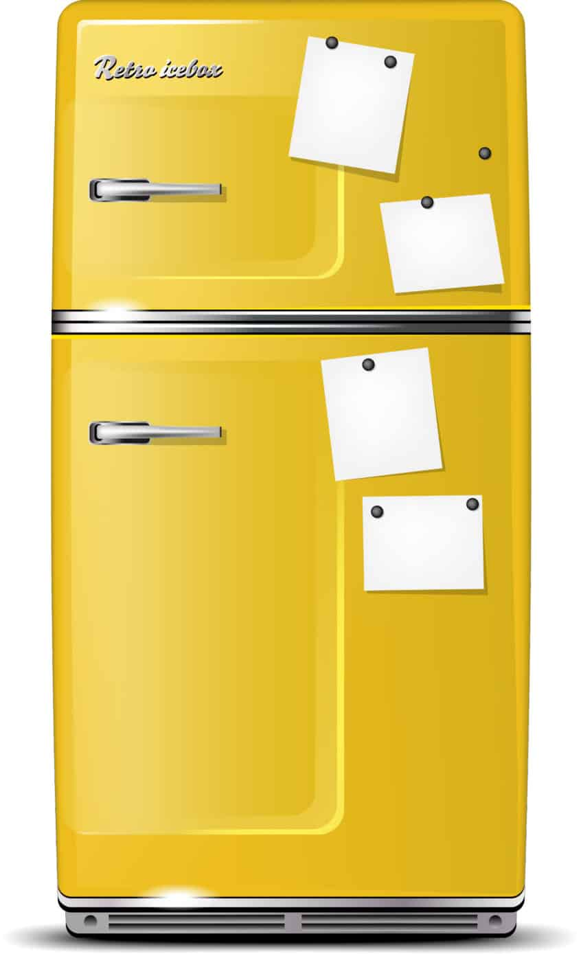 refrigerator yellow