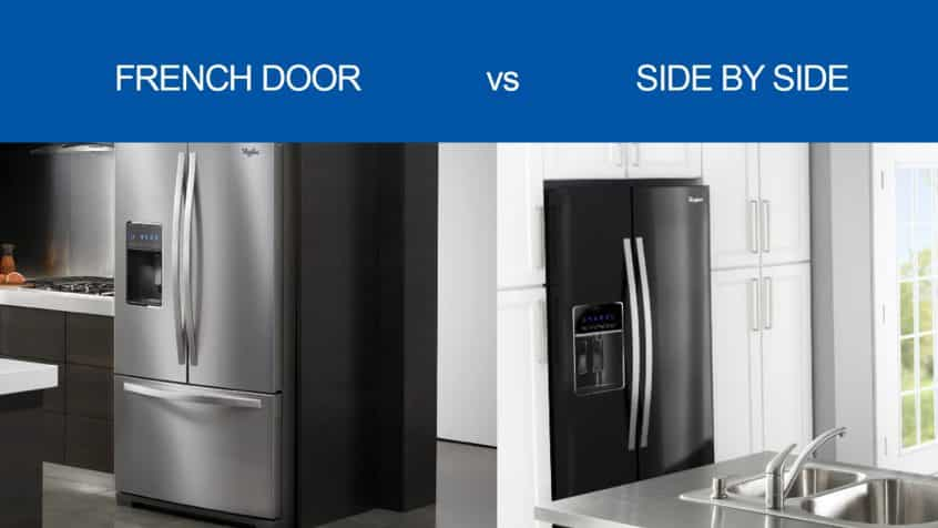 french door refrigerators vs side by side refrigerators. Black Bedroom Furniture Sets. Home Design Ideas
