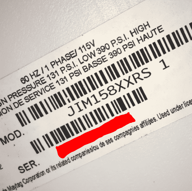 model serial tag